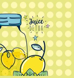 juice detox cartoon vector image
