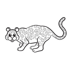 leopard black and white vector image