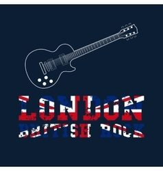 London british rock typography vector image