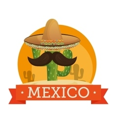 Mexican culture traditional poster vector