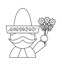 mexico culture icon image vector image
