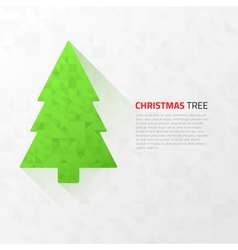 Modern flat christmas tree with triangles vector
