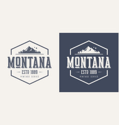 montana state textured vintage t-shirt and vector image