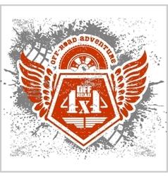Off-road - grunge emblem and design elements vector