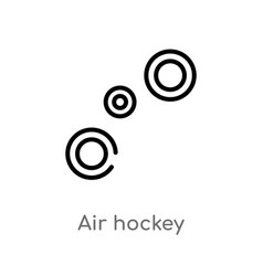 Outline air hockey icon isolated black simple vector
