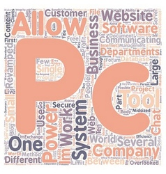 PC2PC Server Document Exchange text background vector image