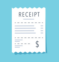 receipt icon flat design vector image