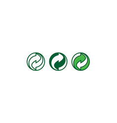 recycle symbol logo icon vector image
