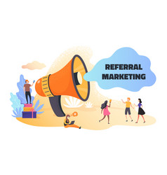Referral marketing business announcement vector