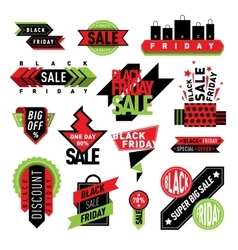 Sale badge stickers percent discount symbols vector image