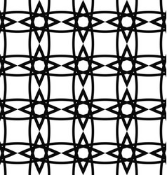 Seamless black and white lattice grid pattern vector