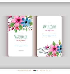 Set of abstract watercolor cards vector image