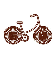 Shadow vintage bicycle cartoon vector