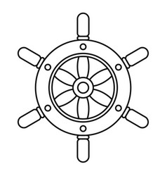ship wheel icon outline style vector image
