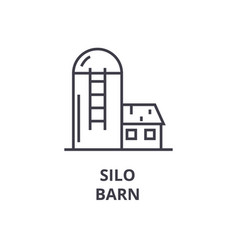 silo barn line icon outline sign linear symbol vector image
