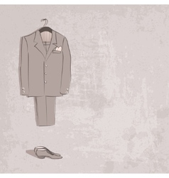 sketch groom suit vector image