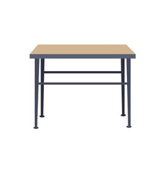 Squared table home interior vector