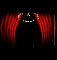 Template concept red stage curtain vector