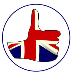 thumbs up england vector image