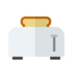 toaster with a slice bread flat isolated vector image