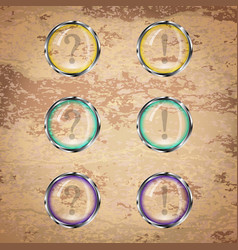 Transparent round buttons vector