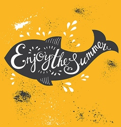 Typography fish vector