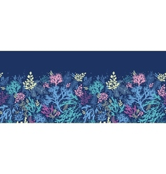 Underwater seaweed horizontal seamless pattern vector image