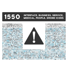 Warning Icon and More Interface Business Tools vector image