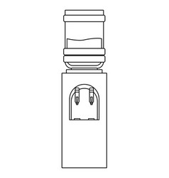 Water dispenser icon black and white vector