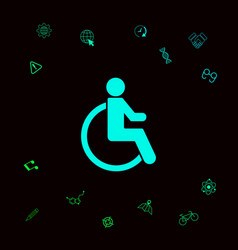 wheelchair handicap icon graphic elements for vector image