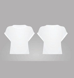 White women crop top vector
