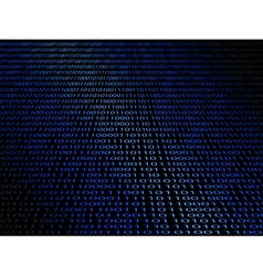 abstract background with a digital binary code vector image vector image