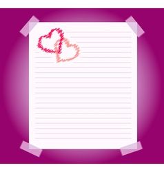 blank notepad sheet of paper vector image vector image