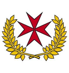 maltese cross vector image