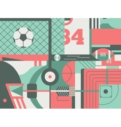 Sport abstract background vector image vector image