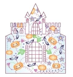 Halloween castle gradient vector image vector image