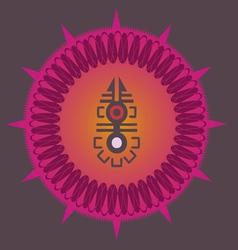 indian ornamental sun poster vector image