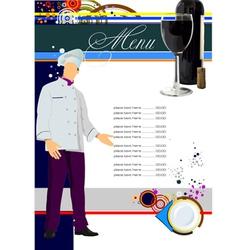 restaurant menu 001 vector image vector image
