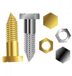 Screws vector