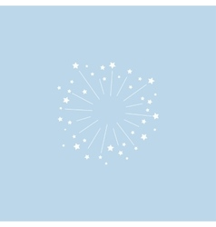 Star explosion minimal style design for vector image
