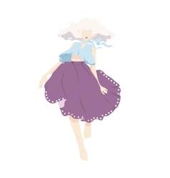 dancing woman background vector image vector image