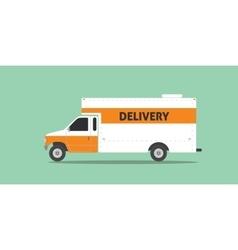 delivery truck van service car transportation vector image