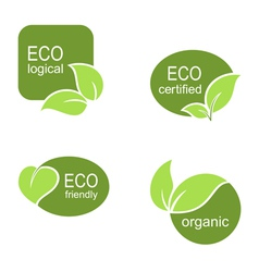 Ecological frames and labels set vector image