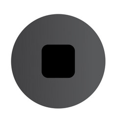 flat black stop icon vector image vector image