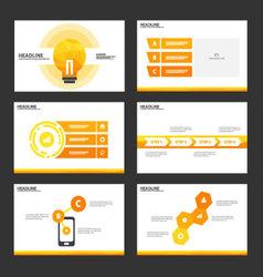 Orange light bulb presentation templates design vector image