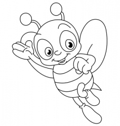 outlined bee vector image vector image