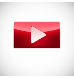 Play button red color vector image vector image