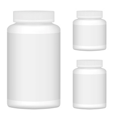 White Blank Plastic Bottle Set For Packaging vector image vector image