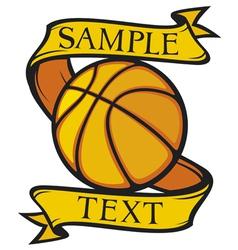 basketball club emblem vector image