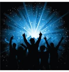 disco crowd vector image vector image